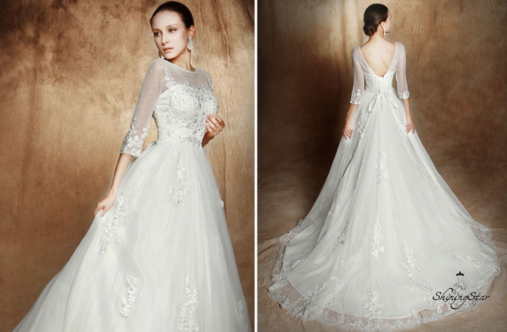 A Line Wedding Dress: 2013 Wedding Trend: Sleeved Wedding Gowns