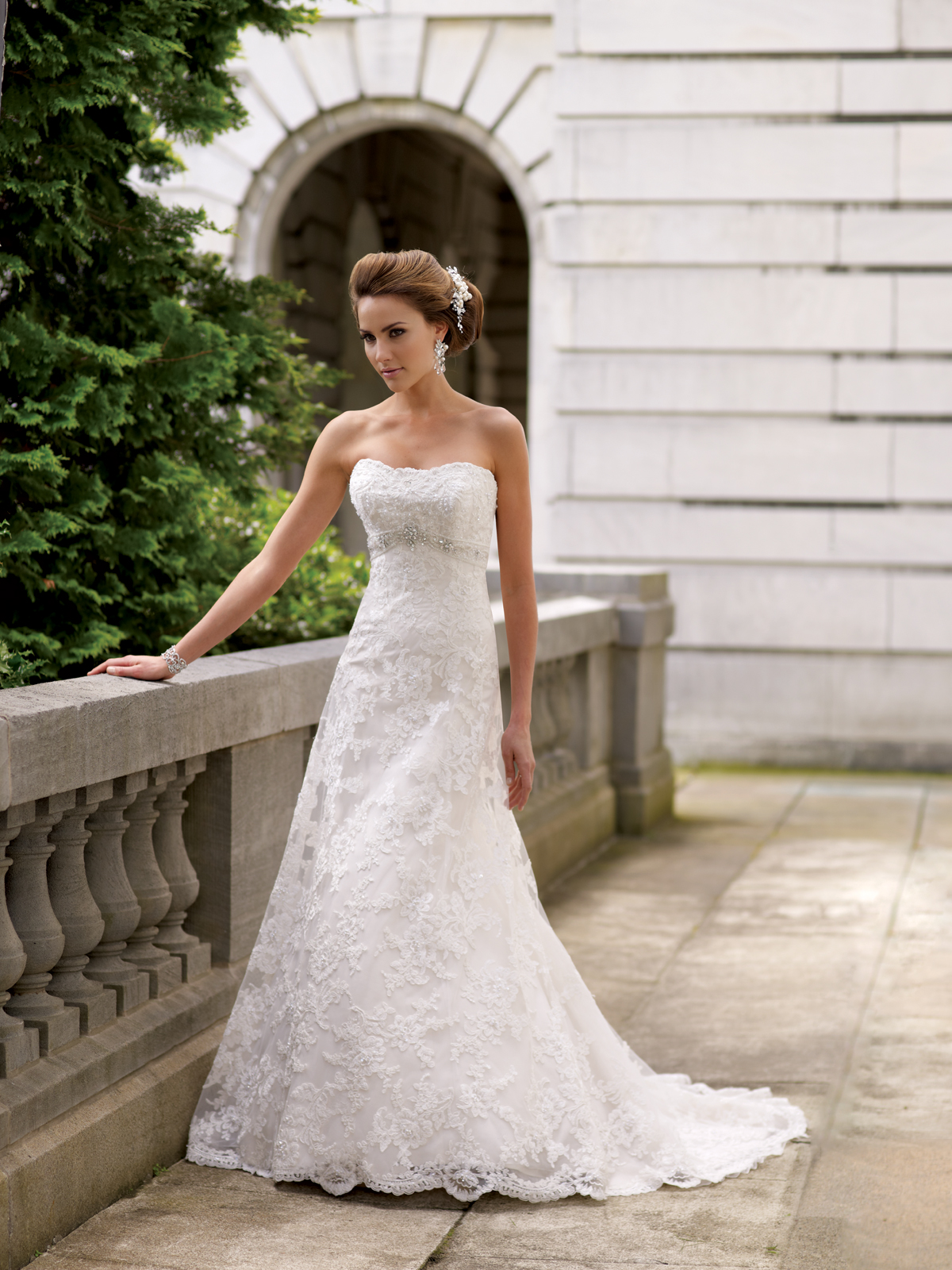 David tutera for mon cheri 2014 wedding collection for Mon cheri wedding dresses