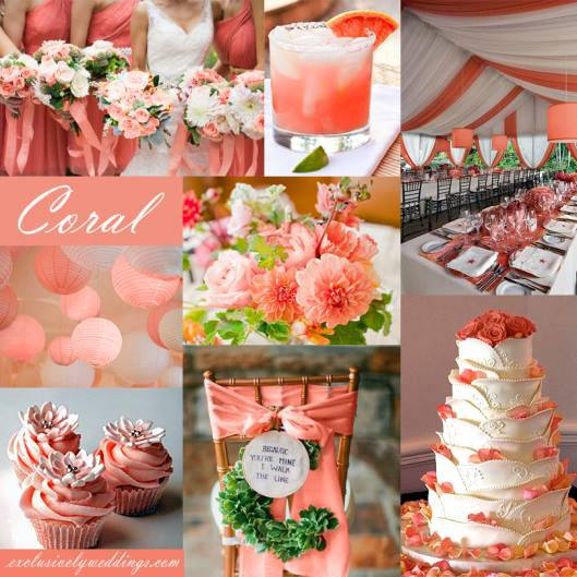 Gorgeous coral wedding inspiration inspirations events image junglespirit Images