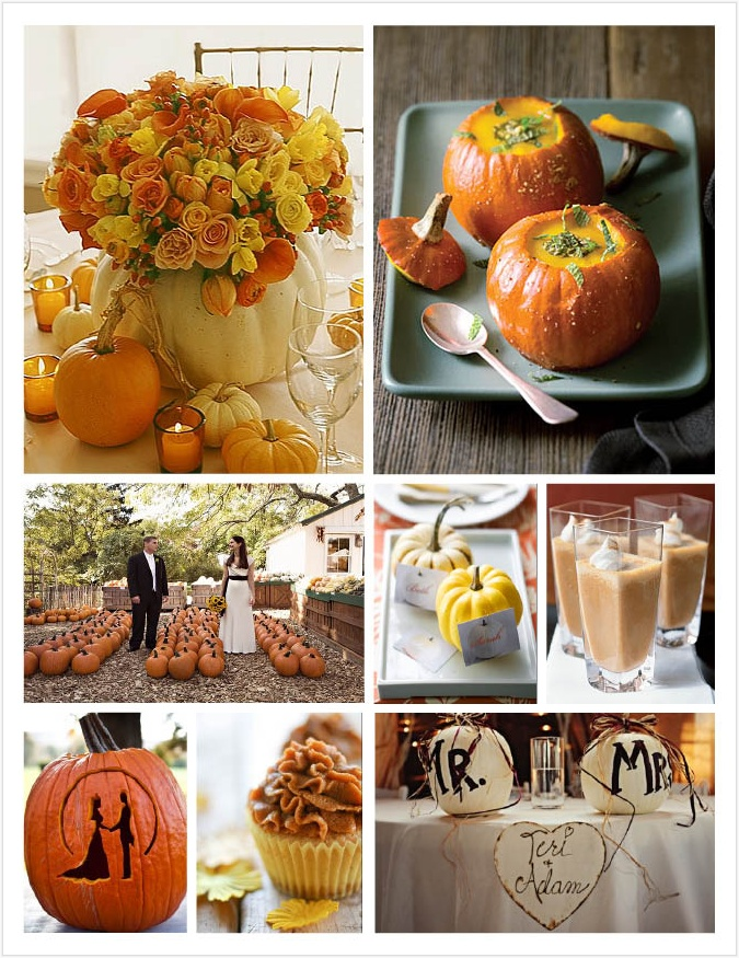 Pumpkin Inspired Fall Wedding Inspiration!