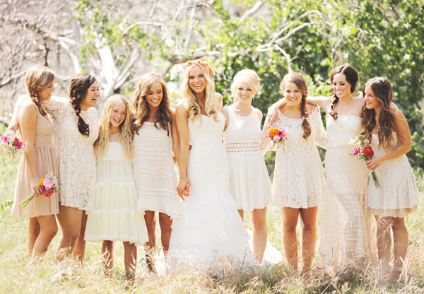 Trendy mix and match bridesmaid dresses inspirations events for Nature inspired wedding dresses